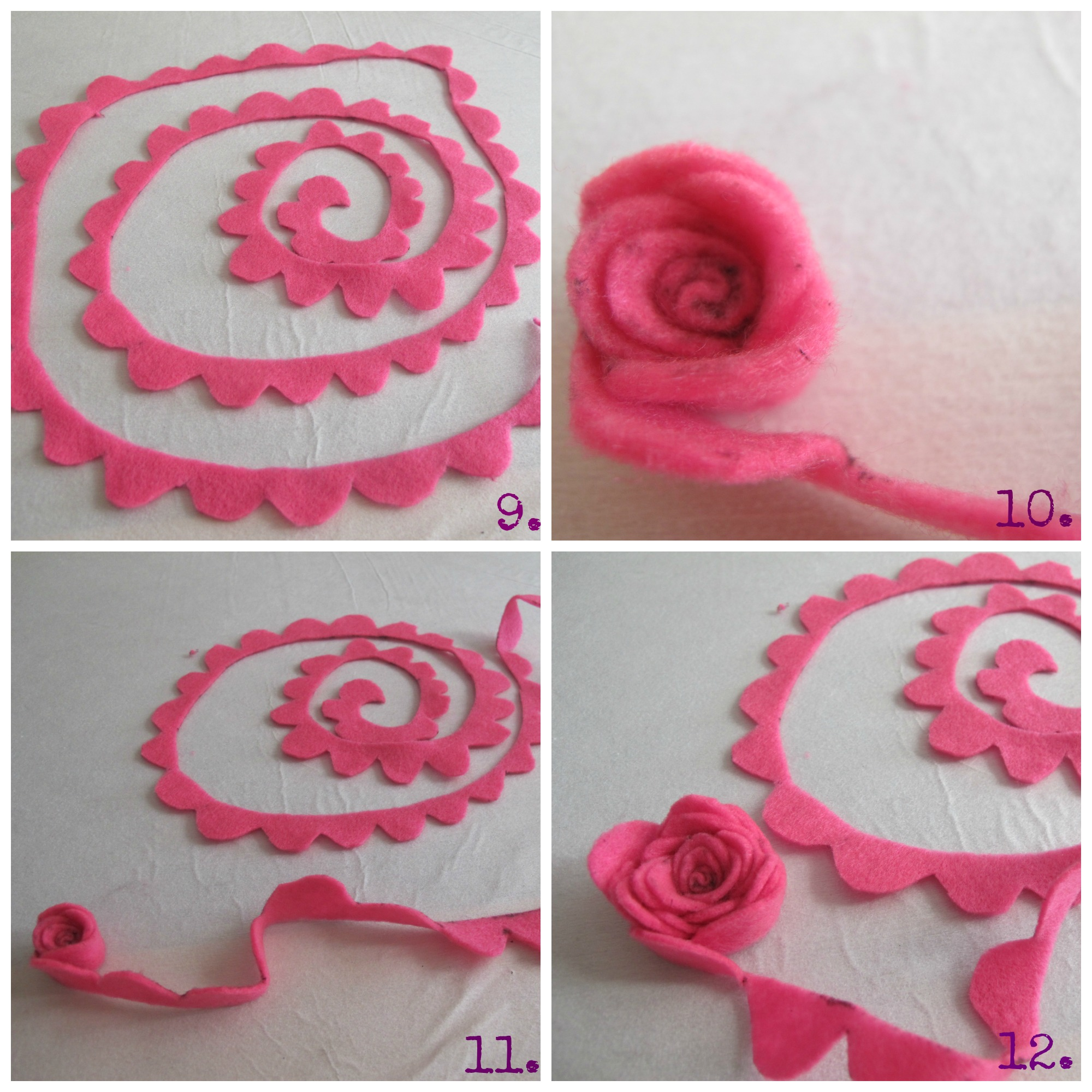 The gallery for Rolled Felt Flower Template